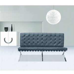 Pavilion Leather Loveseat by Fine Mod Imports