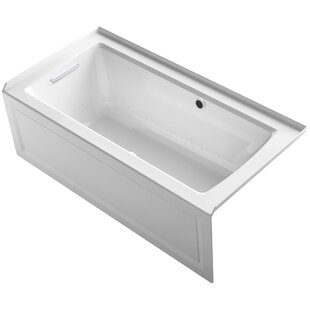 Kohler Archer Alcove Bubblemassage Air Bath with Integral Apron, Left-Hand Drain and Bask™ Heated Surface