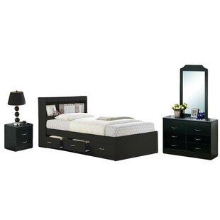 Configurable Platform 5 Piece Bedroom Set by Hodedah