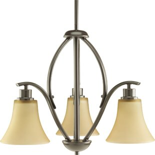 Inexpensive Jilliann Etched 3-Light Shaded Chandelier By Red Barrel Studio