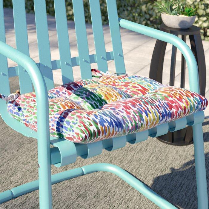 Make It Rain Zinnia Indoor Outdoor Dining Chair Cushion