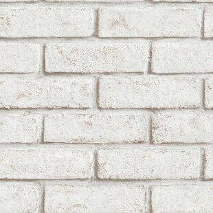 10m X 52cm Brick Wallpaper Roll