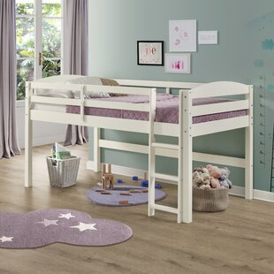 Affordable Price Dupuis Solid Wood Twin Loft Bed By Harriet Bee