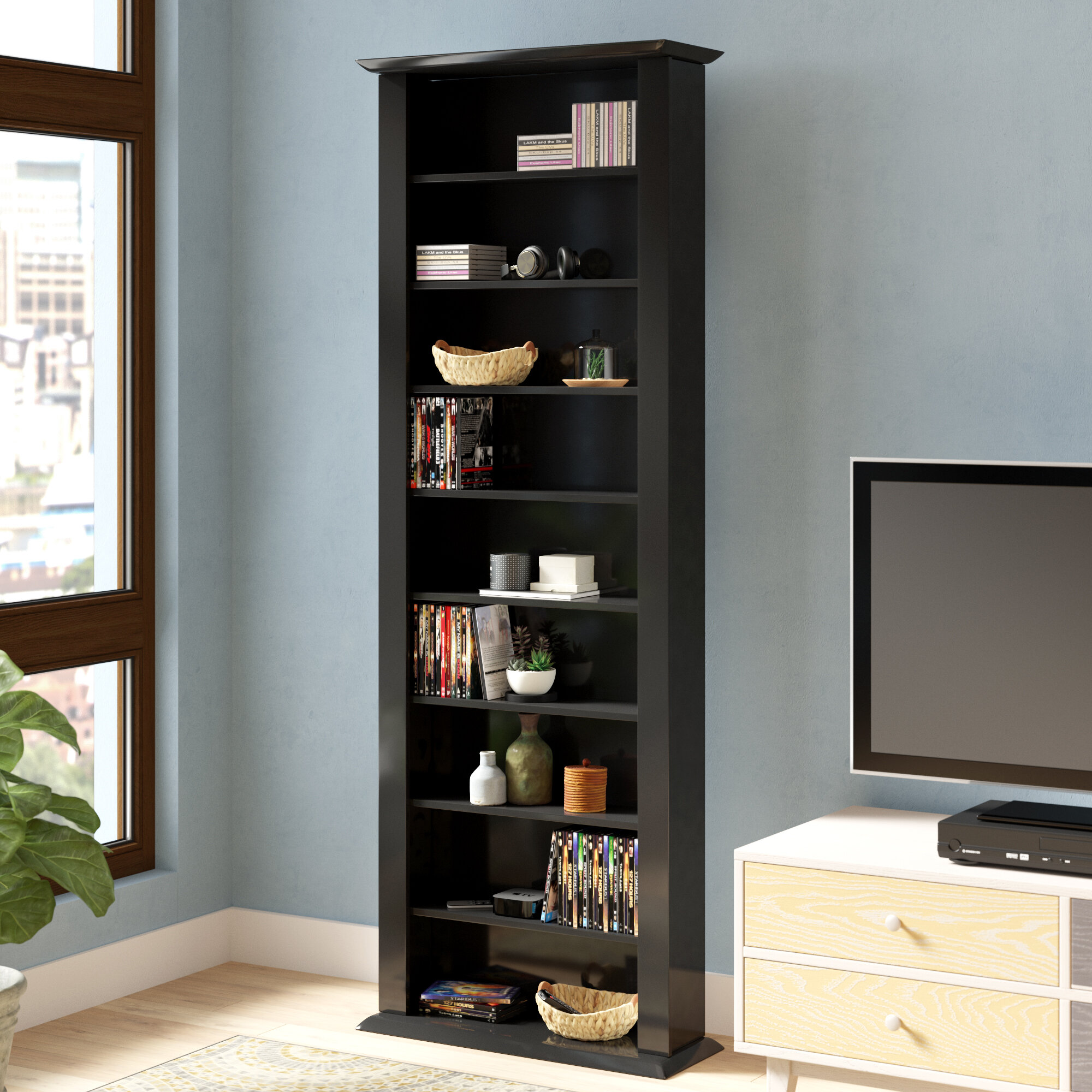 Rebrilliant Large Single Multimedia Storage Rack U0026 Reviews | Wayfair