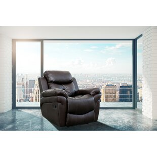Leather Leather Reclining Full Body Massage Chair by Red Barrel Studio
