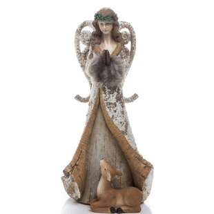 Small Rustic Angel Figurine