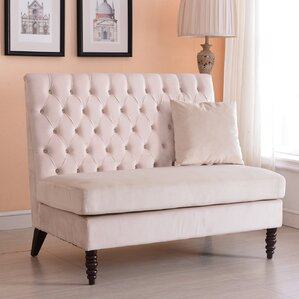 Darby Home Co Ellayne Tufted High Back Loveseat