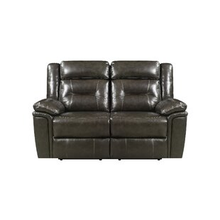 Red Barrel Studio Marlink Leather Reclining Loveseat