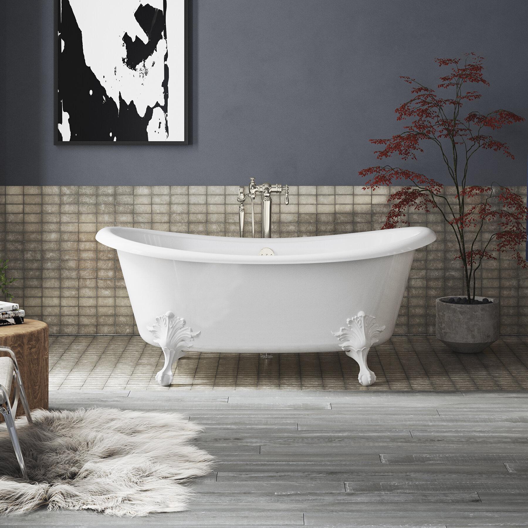 66 X 33 Pedestal Soaking Bathtub