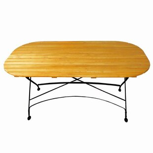 Dowe Folding Solid Wood Dining Table by A..