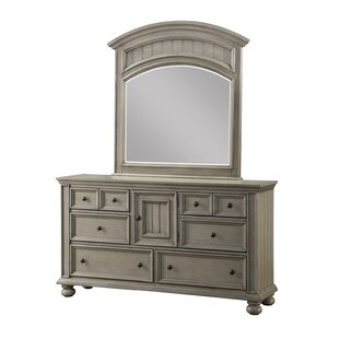 Harriet Bee Lecia 6 Drawer Combo Dresser with Mirror