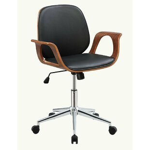 Orren Ellis Komarek Modern Swivel Pneumatic Lift Executive Office Chair