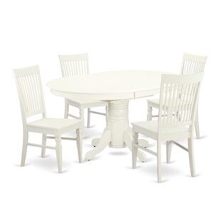 Emmaline 5 Piece Solid Wood Dining Set Alcott Hill