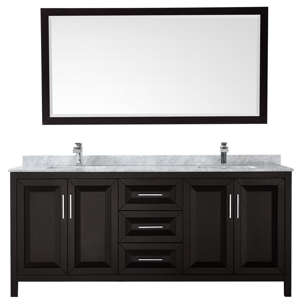 Wyndham Collection Daria 80 Double Bathroom Vanity Set With Mirror Perigold