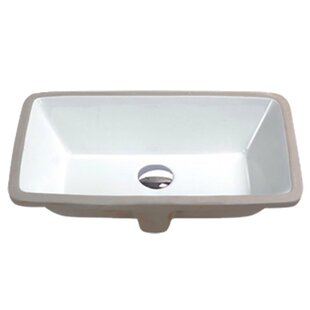 Best Choices Rhodes Series Vitreous China Rectangular Undermount Bathroom Sink with Overflow By ANZZI