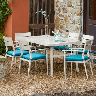 One Allium Way Lee-Robinson 7 Piece Dining Set with Cushions