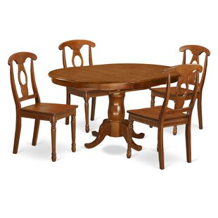 Portna 5 Piece Solid Wood Dining Set East West Furniture