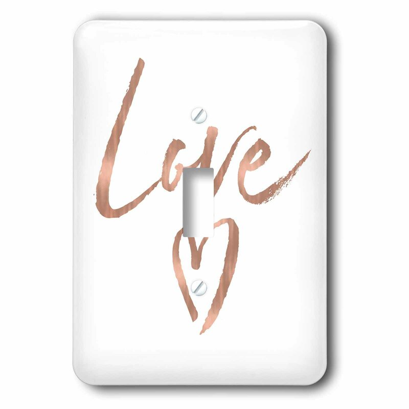 3drose Rose Love Heart 1 Gang Toggle Light Switch Wall Plate Wayfair