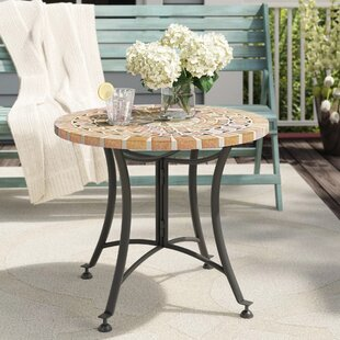 Roseland Stone/Concrete Side Table by Beachcrest Home