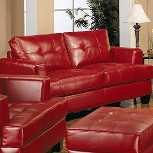 Granville Bonded Leather Loveseat