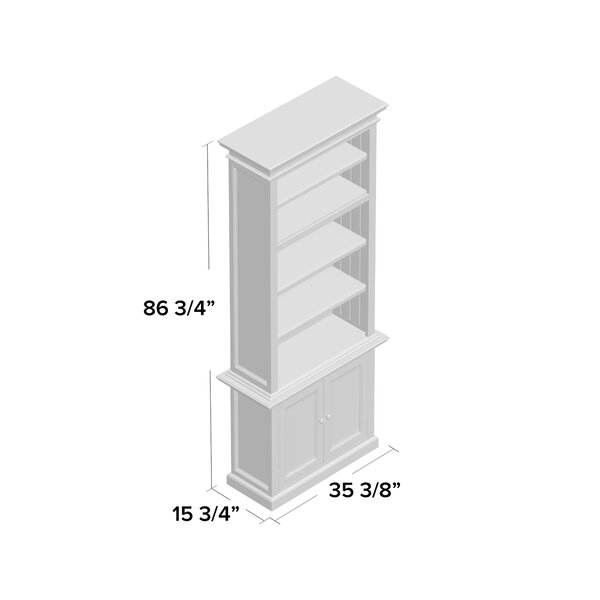 Coastal Farmhouse Cate 86 6 H X 35 43 W Solid Wood Standard Bookcase Reviews Wayfair Ca