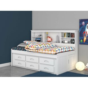 Castiel Bed with Drawers and Bookcase by Harriet Bee