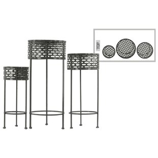 Dowgry Round Shaped Metal 3 Piece Plant Stand Set by Ivy Bronx