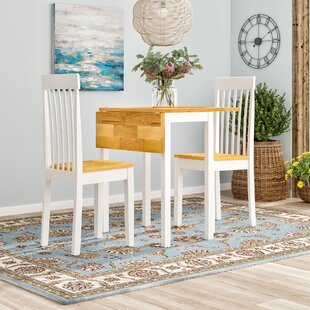 Cantu Dining Set With 2 Chairs By Brambly Cottage
