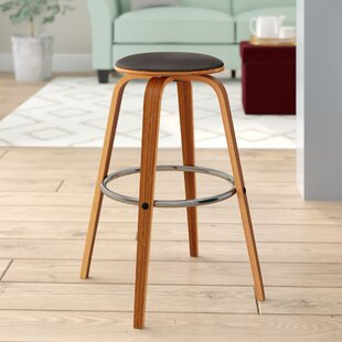Zeno Swivel Bar Stool George Oliver