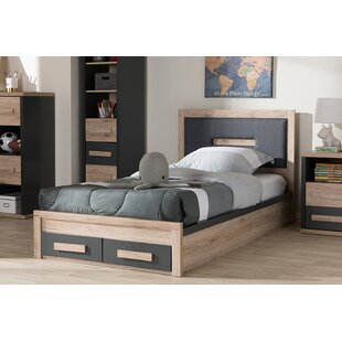 Harriet Bee Leann Twin Upholstered Platform Bed with Storage