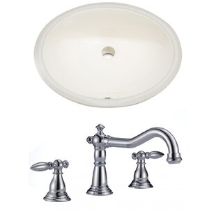 Top Reviews Ceramic Oval Undermount Bathroom Sink with Faucet and Overflow ByAmerican Imaginations