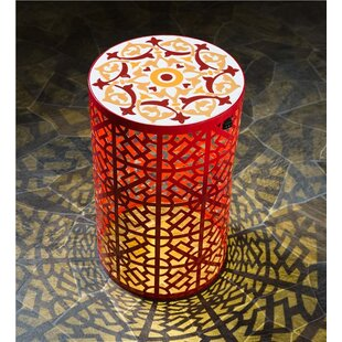 Lighted Metal Side Table