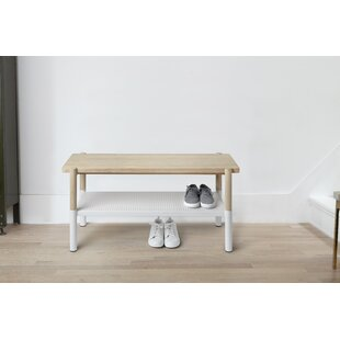 Promenade Metal/Wood Storage Bench