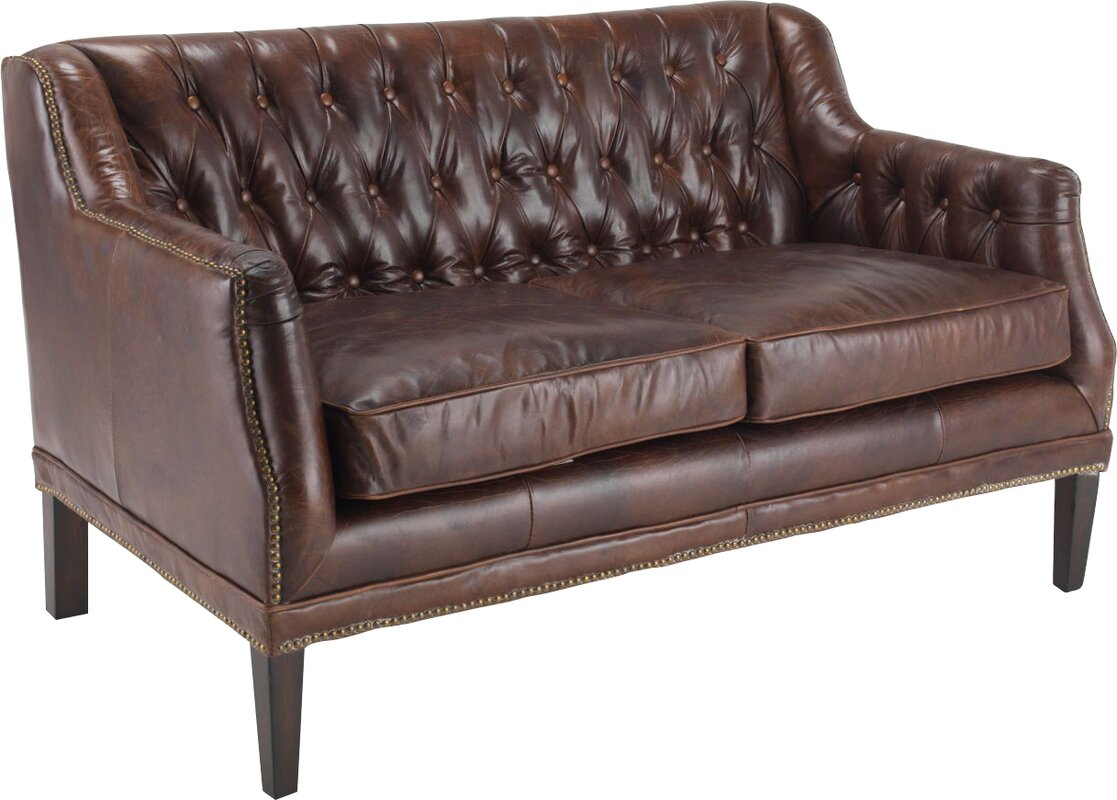 hokku designs 2 sitzer sofa fiona aus leder bewertungen. Black Bedroom Furniture Sets. Home Design Ideas