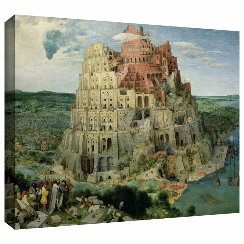 Artwall Tower Of Babel By Pieter Bruegel Painting Print On Wrapped Canvas Wayfair