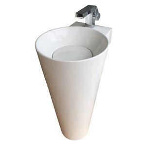 Eviva Evianna Oval Pedestal Bathroom Sink
