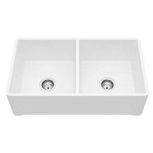 Cat Front Handmade 33 X 18 Double Basin Farmhouse Kitchen Sink