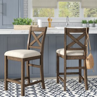 Laurel Foundry Modern Farmhouse Hillary Bar Stool (Set of 2)