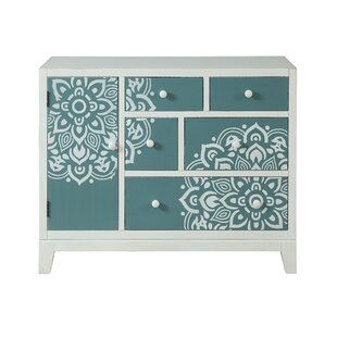 Bungalow Rose Guiterrez 1 Door 5 Drawer Accent Cabinet