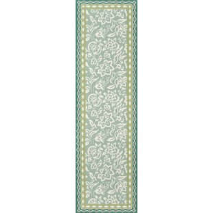 Purcell Rokeby Road Hand-Hooked Green Indoor/Outdoor Area Rug