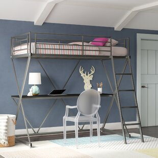 Allenside Loft Bunk Bed with Desk