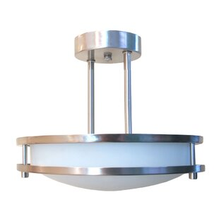 Best Choices Candice 2-Light Semi Flush Mount By Zipcode Design