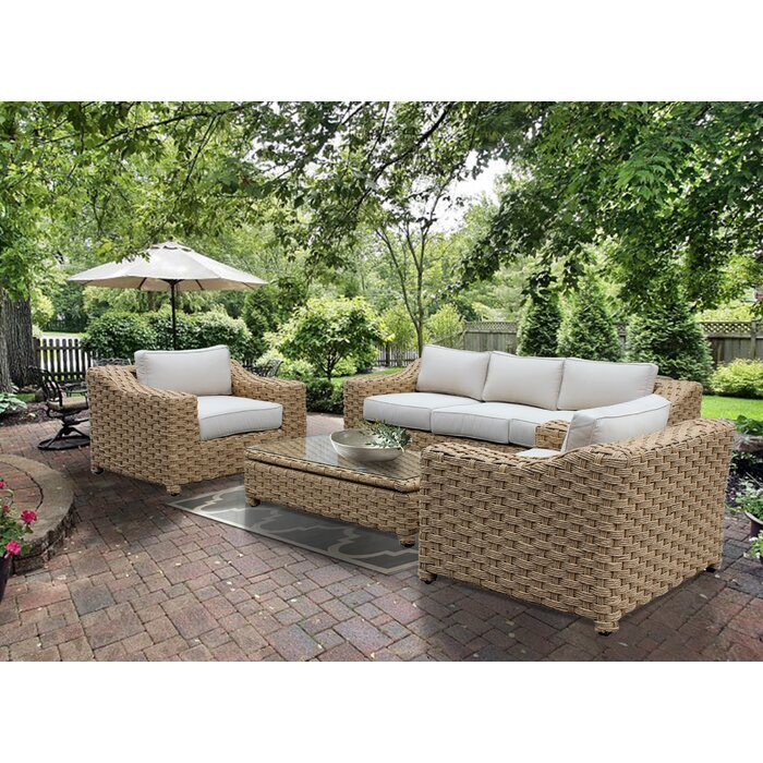 Stupendous Dutil 4 Piece Rattan Sofa Seating Group With Cushions Ibusinesslaw Wood Chair Design Ideas Ibusinesslaworg