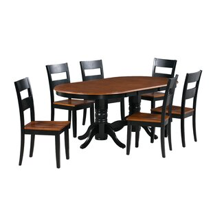 Dahlberg 7 Piece Extendable Solid Wood Dining Set
