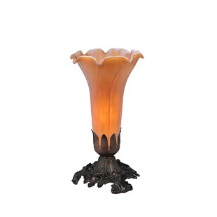Reviews 8 Amber Pond Lily Accent Table Lamp By Meyda Tiffany