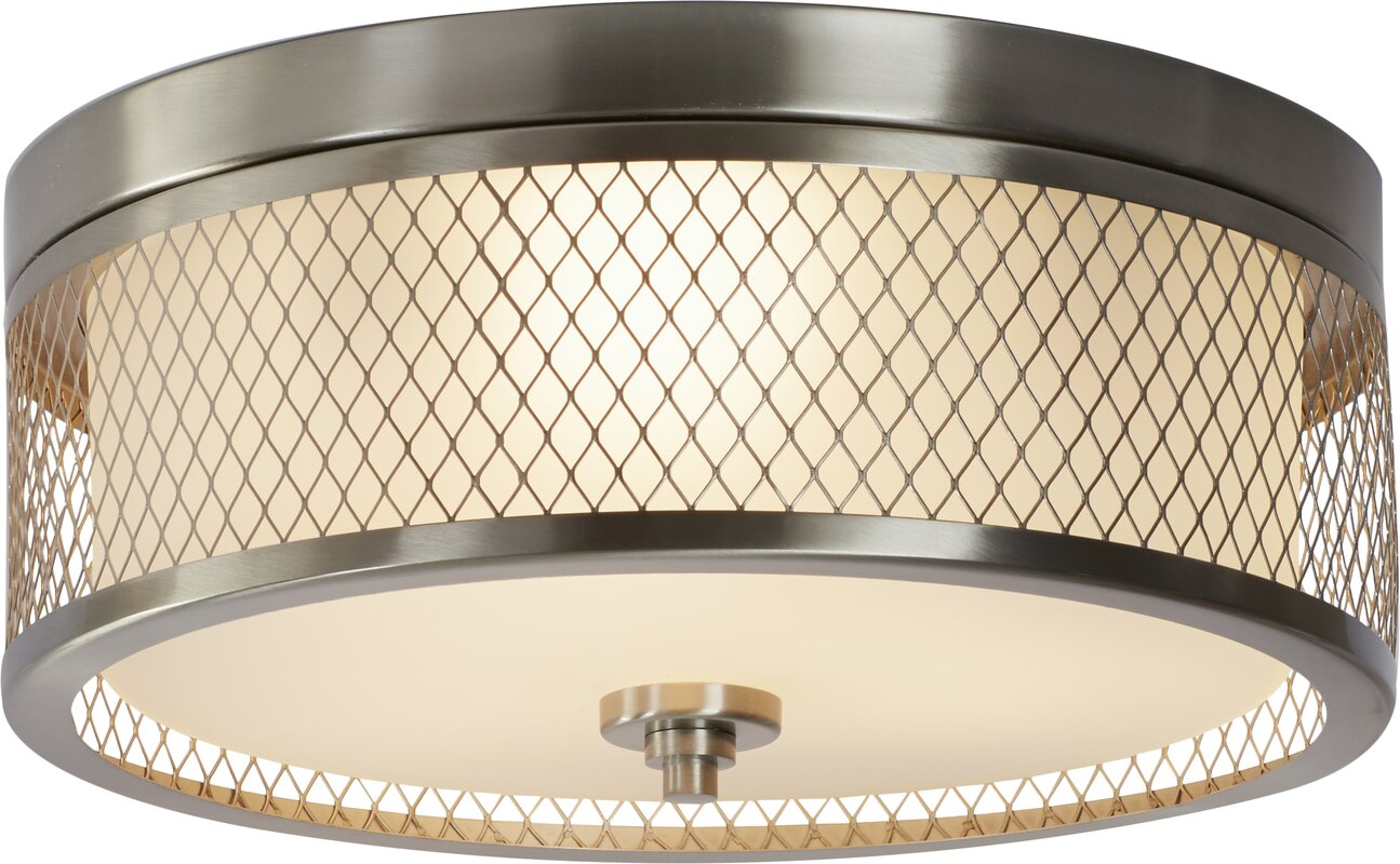 Darby home co lofton 3 light flush mount reviews wayfair lofton 3 light flush mount aloadofball Image collections