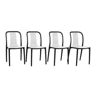 Latitude Run Zuber Stacking Patio Dining Chair (Set of 4)