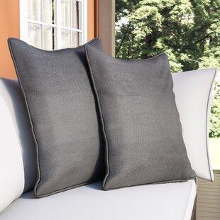 Borowski Solid Floor Indoor Polyester Throw Pillow (Set of 2)