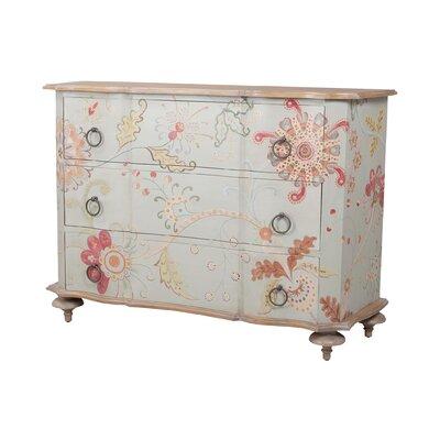 "One Allium Way Scruggs 66"" Wide 3 Drawer Mahogany Wood Sideboard"