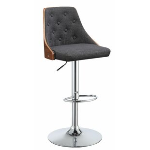 Buntingford Adjustable Height Swivel Bar Stool by Corrigan Studio Find